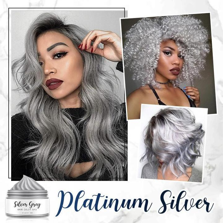 Silver Grey Hair Color Wax