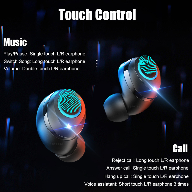 PerPear™ True Wireless Earbuds Bluetooth 5.0 Earphones PX5 Waterproof For Sports Workout Gym