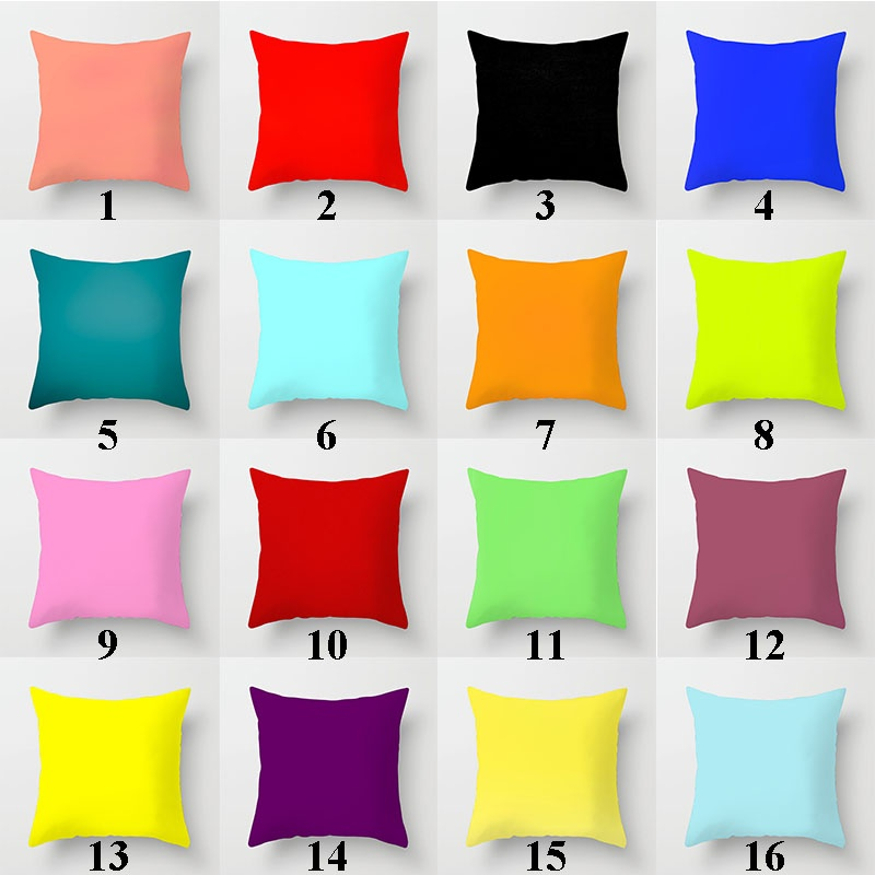 Solid Color And Color(Double-sided Printing)Cotton&Polyster Pillow Case Pillow Cover Cushion Cover Home Decor 45*45 cm