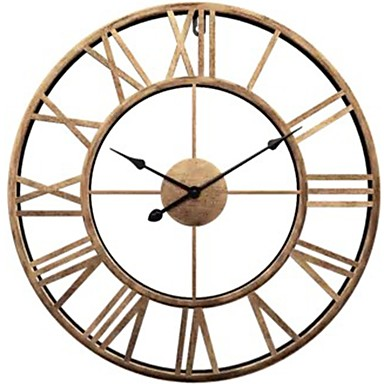 Wall Clock,Modern Contemporary Fashion Plastic & Metal Round Indoor / Outdoor 20