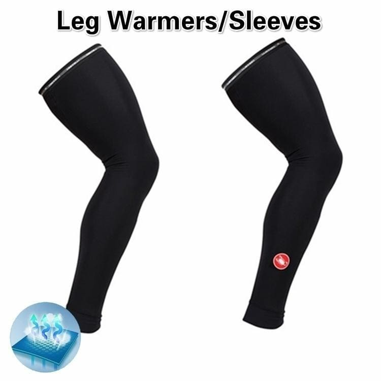 2 Pcs/1pair Thermo Flex Leg Warmers Breathable Lightweight Cycling Leg Sleeves SUP