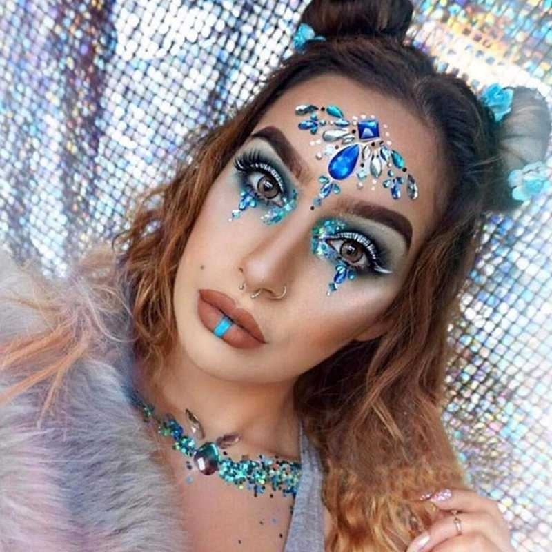 Boobs Jewels Sticker Glitter Rhinestone Adhesive Face Jewelry 3D Crystal Chest Body Tattoo Gems Party Stage Makeup