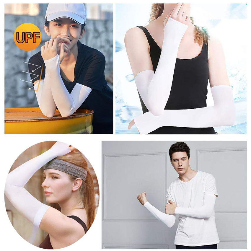 UV Sun Protection Arm Sleeves - Cooling Compression Sleeves for Men & Women